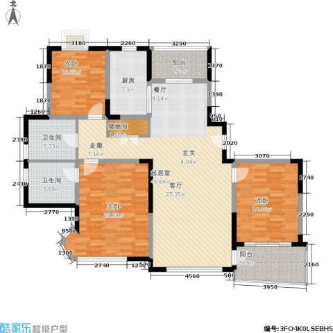 新时代富嘉花园3室0厅2卫1厨138.79㎡户型图