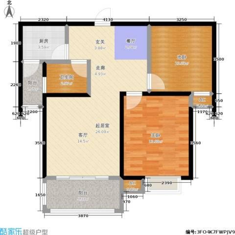 幸福时光2室0厅1卫1厨92.00㎡户型图
