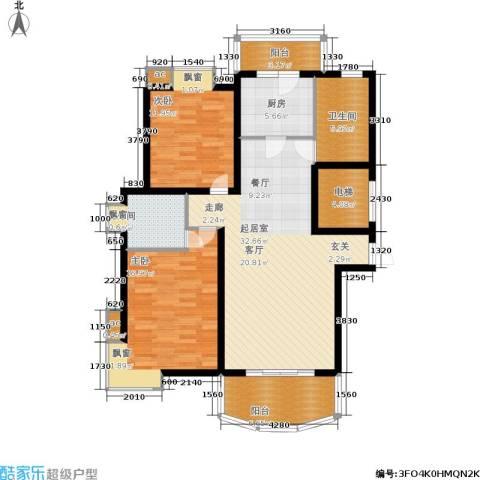 北桥春天2室0厅2卫1厨106.00㎡户型图