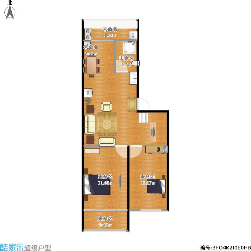 73平方两室两厅带阁楼(阁楼不算面积)