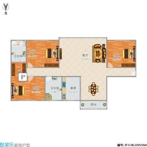 中骏天誉3室1厅2卫1厨225.00㎡户型图