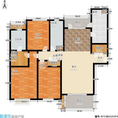 滨江名人苑3室0厅2卫1厨218.00㎡户型图