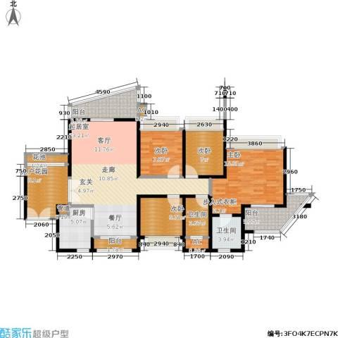 阳光圣菲4室0厅2卫1厨138.00㎡户型图