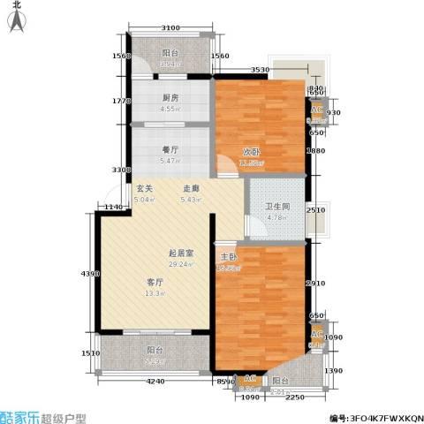 幸福时光2室0厅1卫1厨110.00㎡户型图