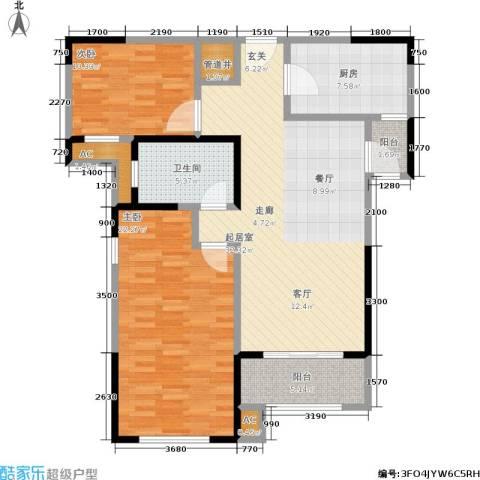 路劲主场琅悦2室0厅1卫1厨99.60㎡户型图
