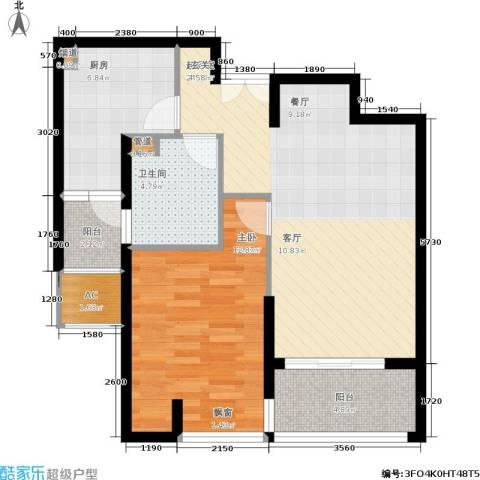 海上海新城1室0厅1卫1厨69.00㎡户型图