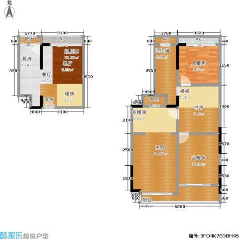 美泰天韵3室0厅1卫0厨92.53㎡户型图