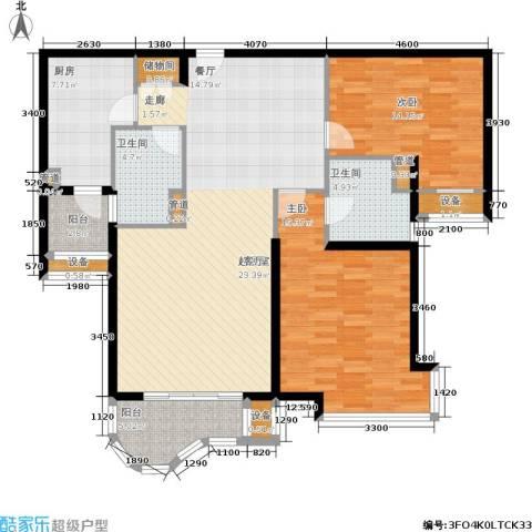 兆丰帝景苑2室0厅2卫1厨114.00㎡户型图