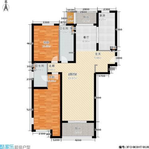 海上海新城2室0厅2卫1厨129.00㎡户型图