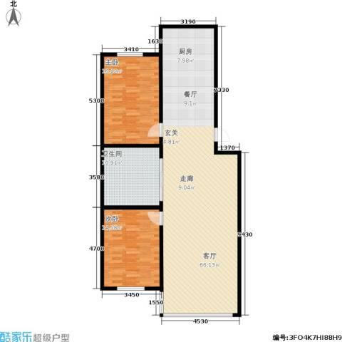 锦江绿云嘉园2室1厅1卫0厨114.00㎡户型图