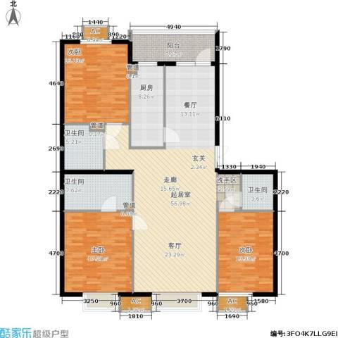 华联孔雀城3室0厅3卫1厨194.00㎡户型图
