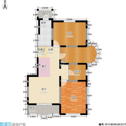 金苹果花园3室1厅1卫1厨115.00㎡户型图