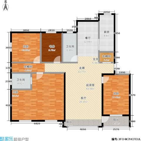 绿江太湖城金色水岸4室0厅2卫1厨186.00㎡户型图