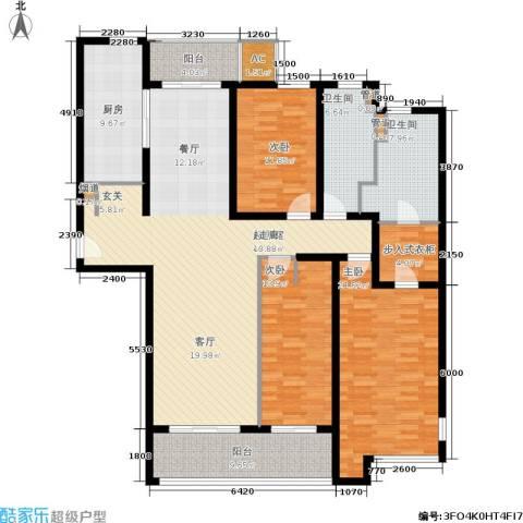 海上海新城3室0厅2卫1厨157.00㎡户型图