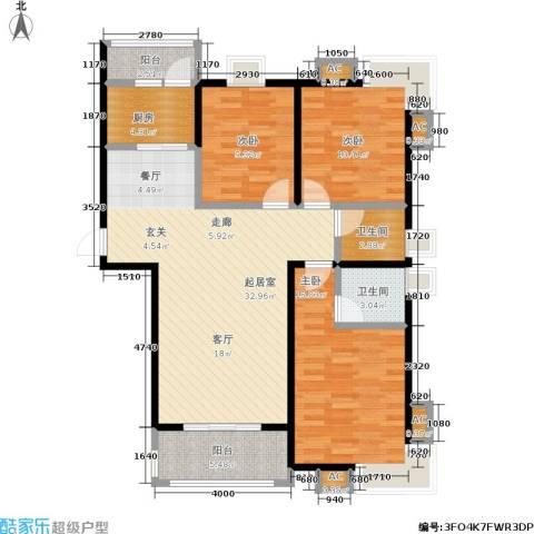 幸福时光3室0厅2卫1厨125.00㎡户型图