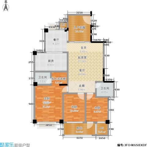 国豪水岸城3室0厅2卫1厨131.00㎡户型图