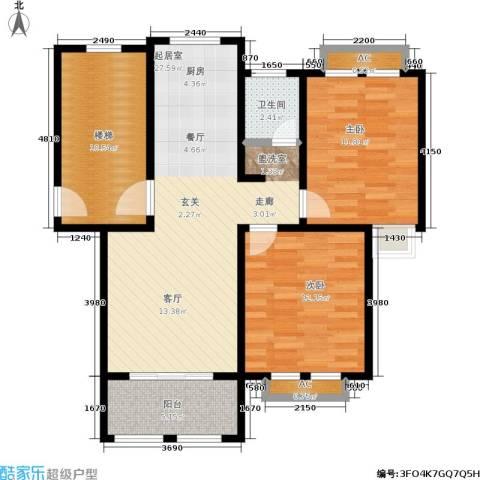 康桥郦湾2室0厅1卫0厨102.00㎡户型图