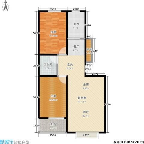 浩正�林湾2室0厅1卫1厨108.00㎡户型图