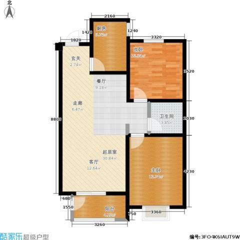 宏宇城2室0厅1卫1厨95.00㎡户型图