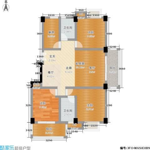 国豪水岸城3室0厅2卫1厨119.00㎡户型图