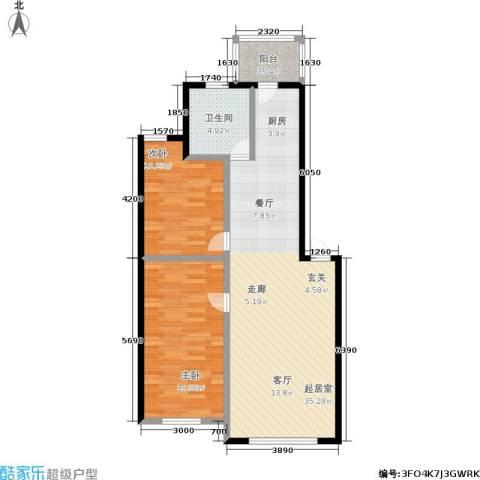 福宁雅居2室0厅1卫0厨76.84㎡户型图