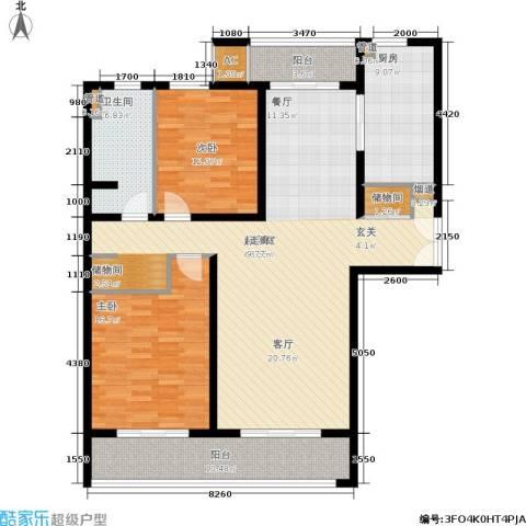 海上海新城2室0厅1卫1厨125.00㎡户型图