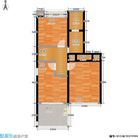 美泰天韵3室0厅1卫0厨80.00㎡户型图
