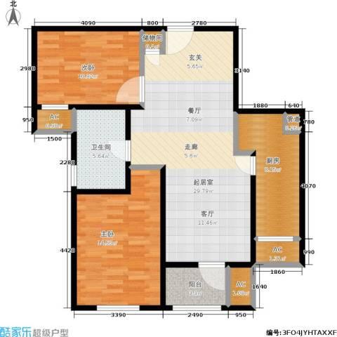 季景华庭2室0厅1卫1厨87.00㎡户型图