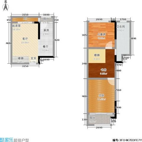 美泰天韵3室0厅1卫0厨68.00㎡户型图