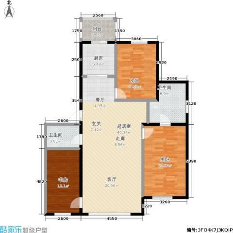 福宁雅居3室0厅2卫1厨110.10㎡户型图