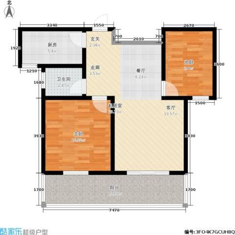 绿源春府2室0厅1卫1厨94.00㎡户型图