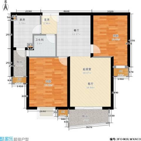 淡水湾花园2室0厅1卫1厨110.00㎡户型图