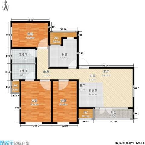 季景华庭3室0厅2卫1厨143.00㎡户型图