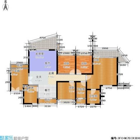 阳光圣菲4室0厅2卫1厨140.00㎡户型图