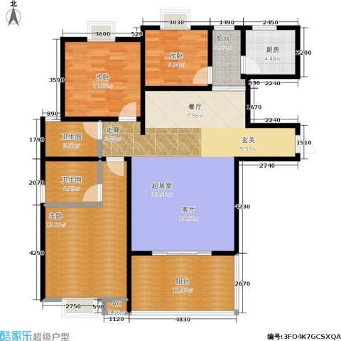 绿源春府3室0厅2卫1厨145.00㎡户型图