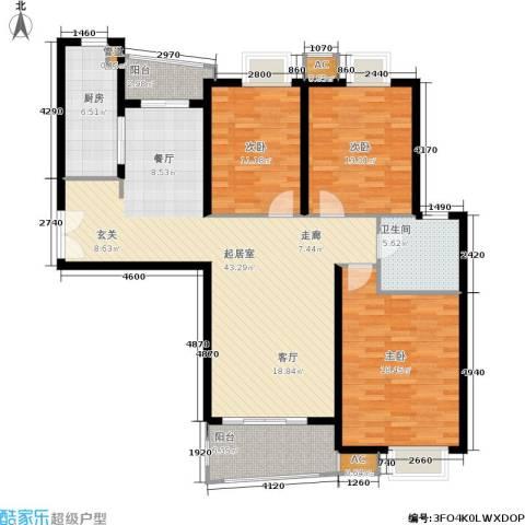 淡水湾花园3室0厅1卫1厨153.00㎡户型图