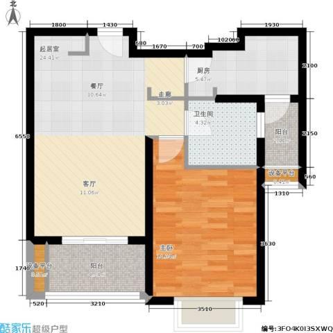 开元新都1室0厅1卫1厨55.80㎡户型图