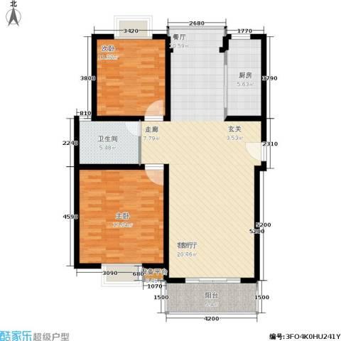 春江锦庐2室1厅1卫1厨123.00㎡户型图