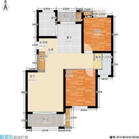 久阳文华府邸2室0厅1卫1厨131.00㎡户型图