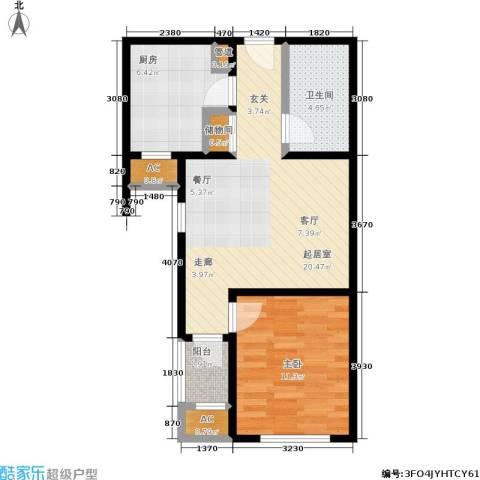 季景华庭1室0厅1卫1厨59.00㎡户型图