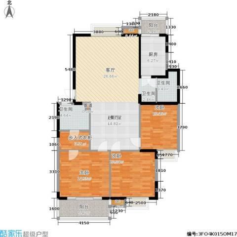 武夷商城3室0厅2卫1厨124.00㎡户型图