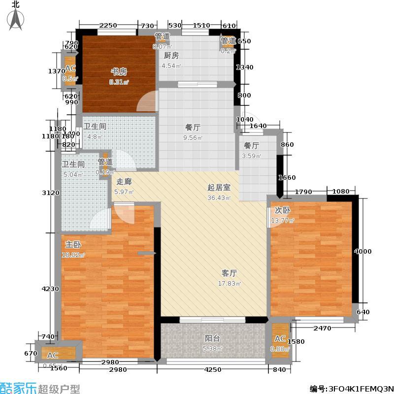 万科海上传奇109.00㎡二期高层18#M湖悦房户型