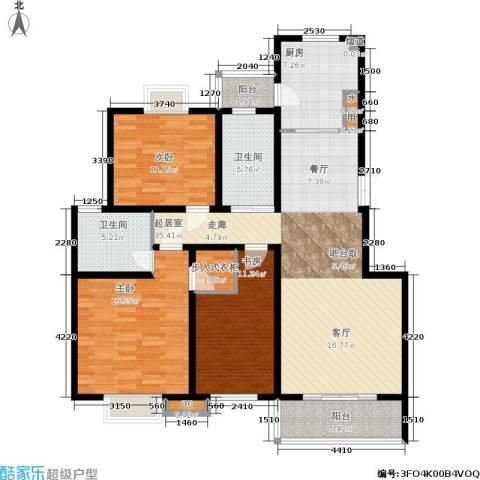 东城天骄3室0厅2卫1厨120.00㎡户型图