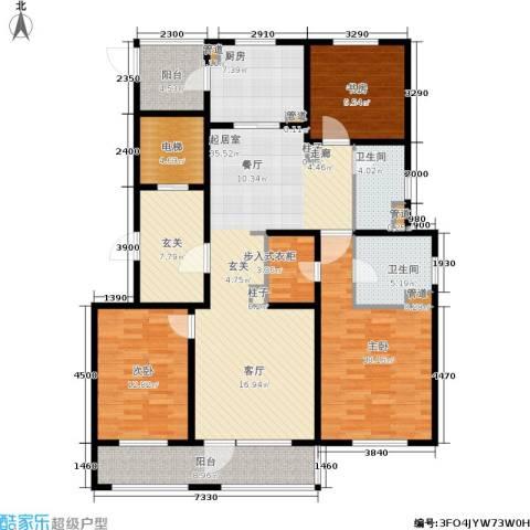 姑苏金茂府3室0厅2卫1厨140.00㎡户型图