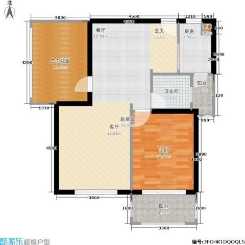红树湾1室0厅1卫1厨77.00㎡户型图
