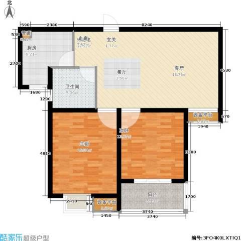 嘉宝都市港湾城2室0厅1卫1厨91.00㎡户型图