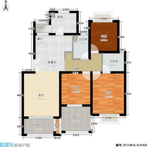 绿地南桥新苑3室1厅2卫1厨115.00㎡户型图