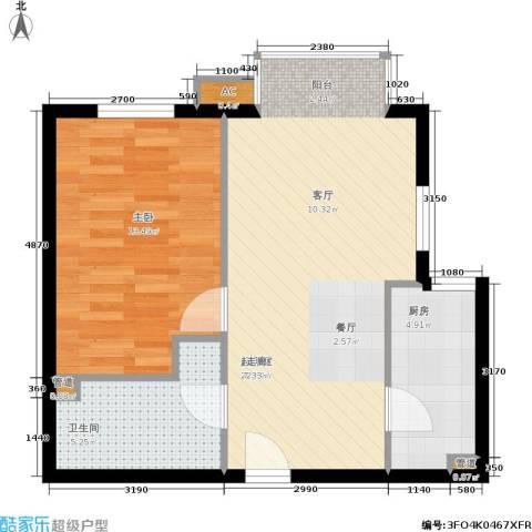 百子湾家园1室0厅1卫1厨64.00㎡户型图