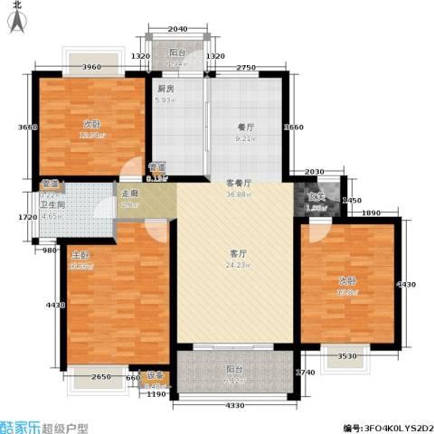 恒大翰城瀚锦苑3室1厅1卫1厨142.00㎡户型图