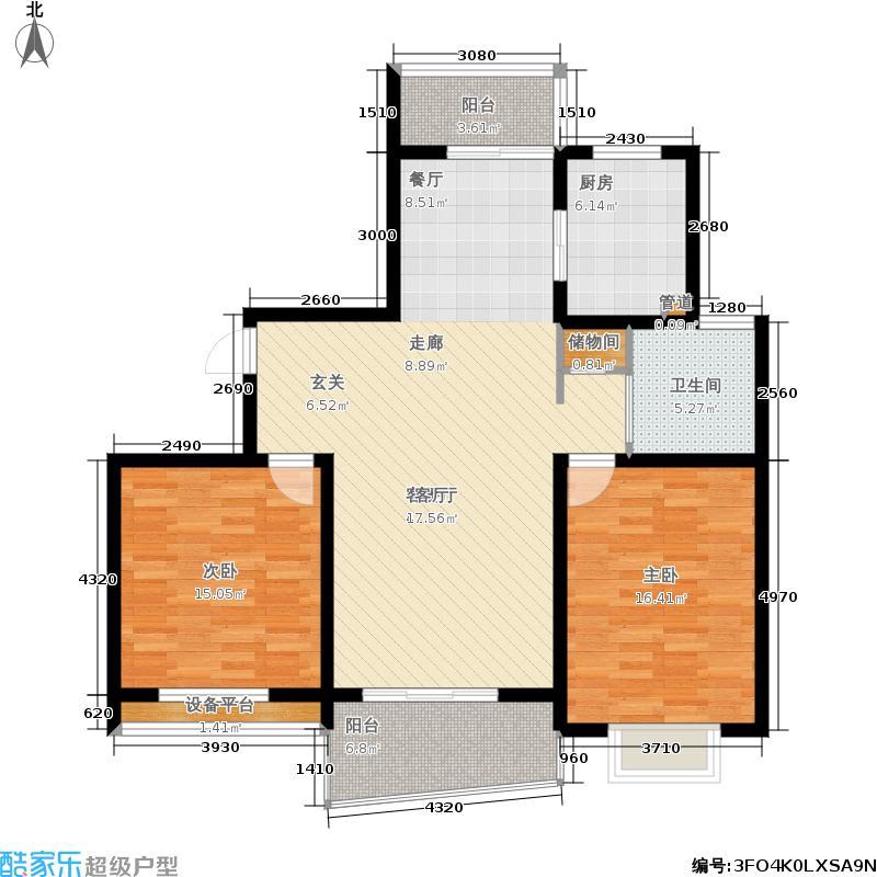 嘉宝都市港湾城110.68㎡一期房型面积11068m户型